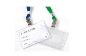 NAME BADGE HOLDERS WITH LANYARD